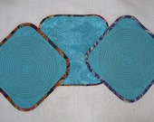 Quilted Chartres Finger Labyrinth, Teal