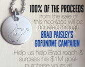 West Virginia Flood Relief 100% Donation WV State Pride Necklace Love Heart Brad Paisley Benefit