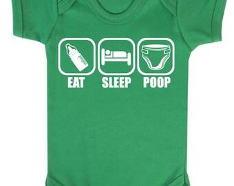 Eat Sleep Poop Baby Vest