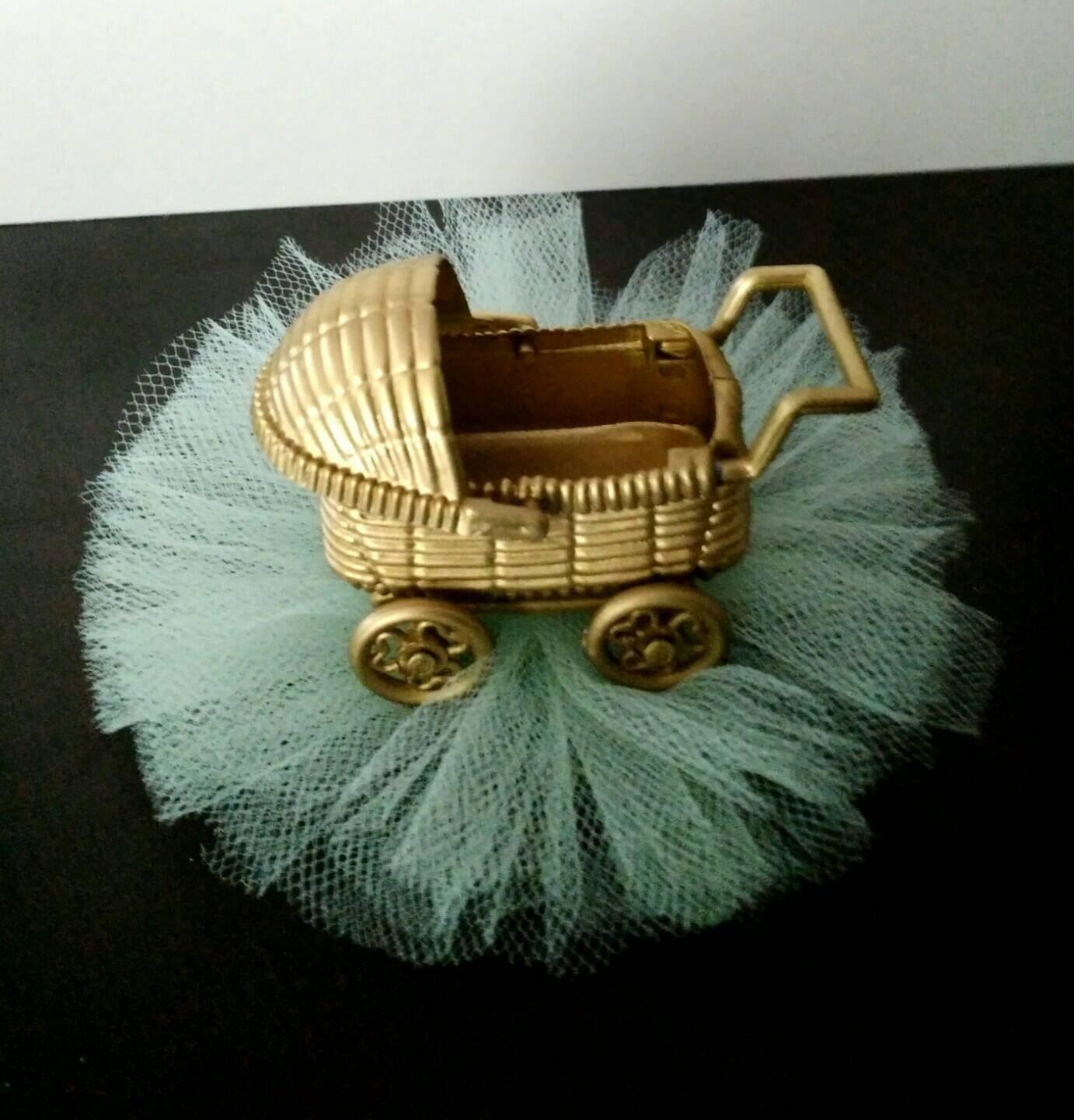 Golden stroller candy holder royal baby shower favors wel e