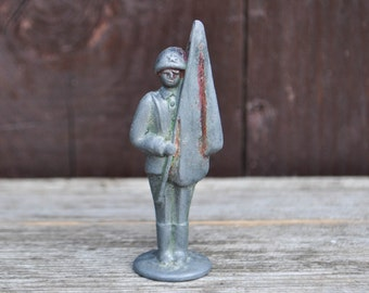 Vintage Soviet Russian lead toy soldier,figurine.