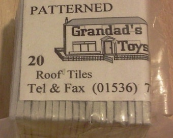 Dolls House Miniature Patterned Gray Roof Tiles 20pk