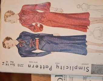 Vintage Simplicity Day Dress Pattern #2213