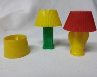 Louis Marx battery table Lamps  Hard Plastic Rare