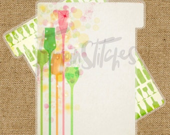 Planner Dividers Happy Hour Themed Themed Tabbed Dividers (Set of 4 or 6)