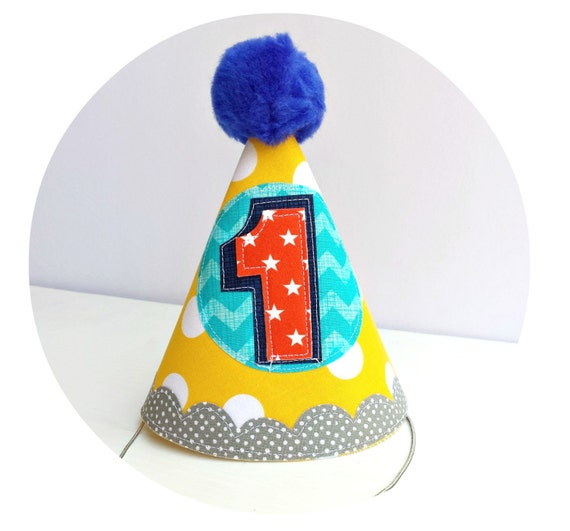 Boys 1st Birthday Party Hat Custom Colors To Match First