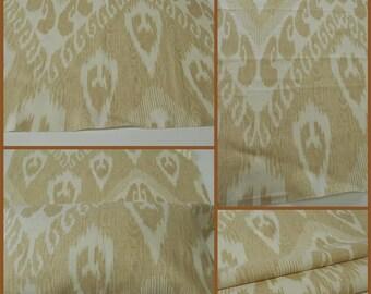 "Kavet Fabric-  Ikat Fabric- Sandstone- Linen Upholstery Fabric- w25""x36"" long"