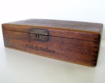 cigar box Antique Cuesta Rey  Wood Unique Latch Distressed Club Criterions Cu-Rey