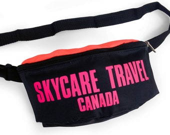 Deadstock 80s Neon Skycare Travel Fanny Pack - 24 to 42