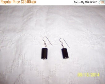 CLEARANCE SALE Vintage Brown Agate dangle earrings. Sterling Silver.