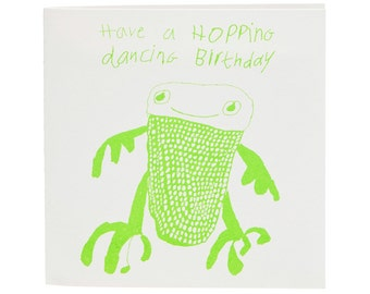 Have a Hopping Dancing Birthday Card