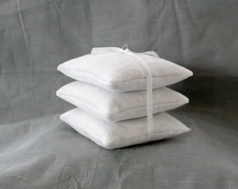 Organic Lavender White Sachets- Set of 3