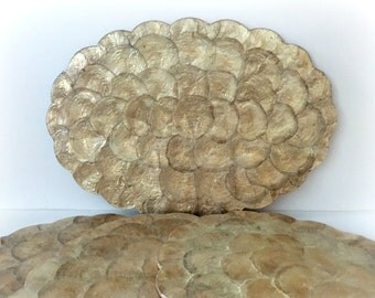 Capiz Shell Plate Chargers Place Mats Mother Of Pearl Beach Decor