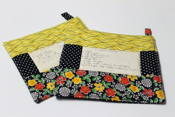 Church Ladies Recipe Pot Holder SET