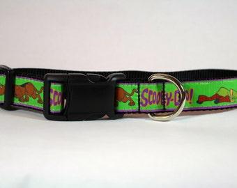 Scooby Doo dog collar, Cartoon dog collar, nylon collar, pet gift, dog accessory, Bozies Bags