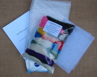 Wet felting starter kit