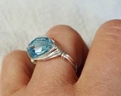 Swarovski Crystal Silver Filled Wire Wrapped Ring Handmade Jewelry