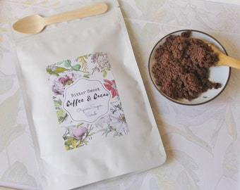 Bitter Sweet Coffee & Cacao Sugar Scrub with Vanilla Essential Oil 150g Pack