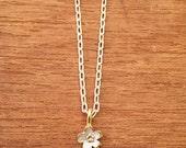 Custom listing - Sakura necklace - Pendant and 45cm fine link silver chain set