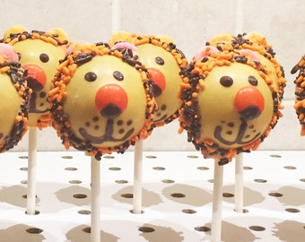 LION CAKE POPS, Animal Cake Pops, Character Cake Pops, Cake Pops, Party Favors, Children Party Favors