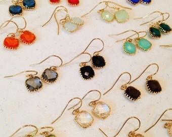 Small Gold Dainty Earrings  - As seen on Instagram - Bridesmaid Jewelry Earrings - Wedding Earrings Bridal - Christmas Gift
