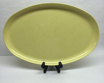 Vintage Yellow Platter Oval Genuine Melamine Spaulding Ware Tray 13 x 9 CHICAGO