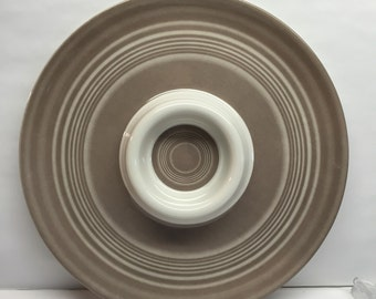 Stotter and Norse Chip and Dip Tray 13 inch Taupe and Ivory Melamineware