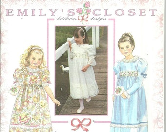 Simplicity Pattern 9854 Girls Heirloom Dress by Emily's Closet (5-8) UNCUT