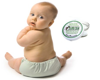 Baby Diaper Cream / Organic Shea Butter with Zinc and Essential Oils / Natural Diaper Balm