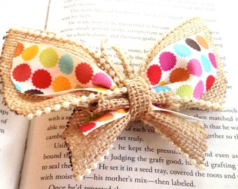 Burlap Butterfly Hair Bow - Butterfly Bow