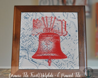 """Trivet Hot Plate:  Liberty Bell Red  