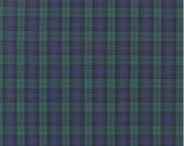 Hunter Green & Purple Plaid from Robert Kaufman's Sevenberry Classic Plaid Collection