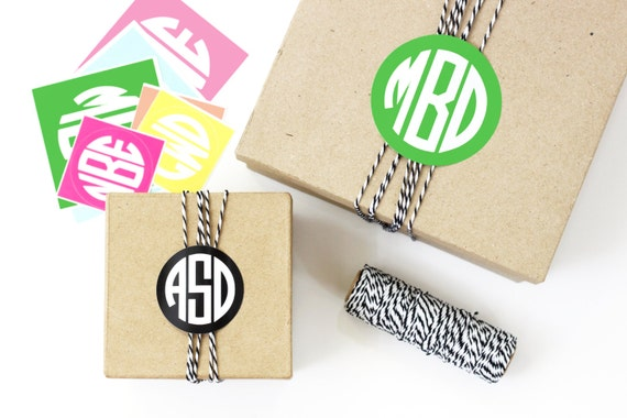 Wedding Gift Box Stickers : ... Shower Gift Tags Favor Box Stickers Monogram Labels Wedding Favor Tags