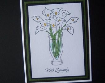 Calla Lilies Sympathy Card