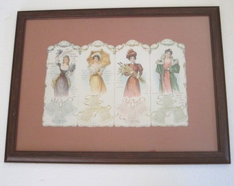 Antique Calendars, Vintage Advertising, The Standard Sewing Machine 1900 Calendar