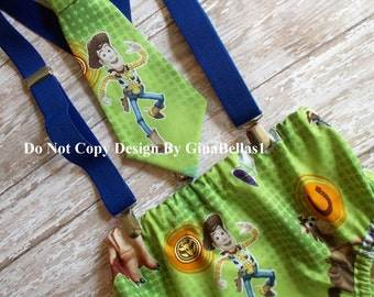 Buzz Woody Birthday cake smash Toy Story outfit costume boy barnyard farm animals one optional Hat diaper cover bow tie 12 18 24 toddler