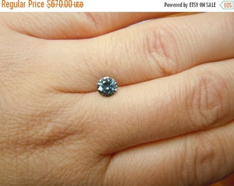SEPTEMBER SALLE Genuine Montana Sapphire .79 ct round brilliant loose gemstone for engagement, jewelry, special occasions