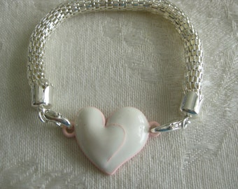 Interchangeable Charms for DIY bracelets/Buy 1 or many/interchange to match your wardrobe Double heart