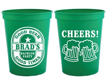 Bachelor Party Cups, Bachelor Party Favors, Custom Bachelor Party Favors, Groomsmen Gifts, Bachelor Party Gifts, Party Cups, Bachelor, 1532