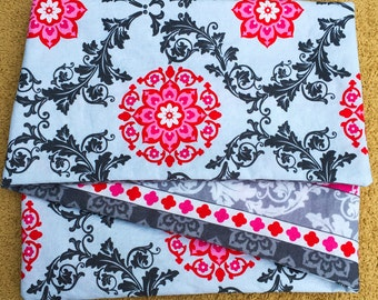 Gray Baroque, COTTON ***STAGE 2*** Children's G Tube Belly Band Wrap, (waist size 20-22 inches)