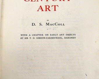 Nineteenth Century Art, D. S. MacColl, 1902, Maclehose [Pub], Plates, Hardback