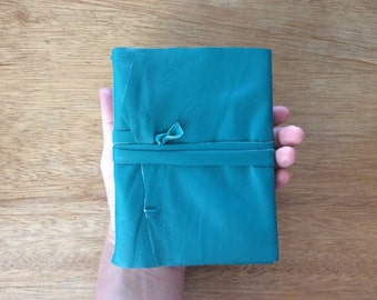 Teal Leather Journal-Handmade-Travel-Writer-Sketch