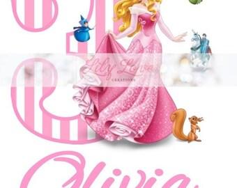 Disney Princess Birthday Shirt, Personalized Birthday Shirt, Princess Birthday, Sleeping Beauty Birthday Shirt, Aurora Birthday Shirt