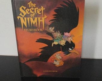 Vintage Children's Book - The Secret of Nimh Storybook - 1982