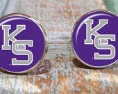 Sporty gift,Kansas State Wildcats tie clip, cuff links or gift set. Kansas State Wildcats tie slide, Kansas sports, college sports