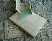 Vintage Wedding Guest Book, Never Used - Deadstock Wedding Sentiment/Keepsake Blank Album, Wedding Gift, Mid Century Bridal Shower Gift