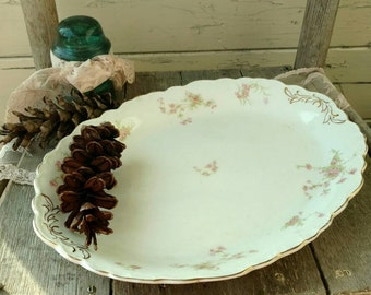 Vintage Rose Serving Platter by the Johnson Brothers of England - Elegant Rose Platter, Shabby Chic Rose Home Decor + Wall Art, China Plates