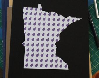purple rain papercut