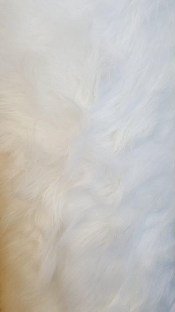 shaggy luxury faux fake fur white fabric by the yard. Black Bedroom Furniture Sets. Home Design Ideas
