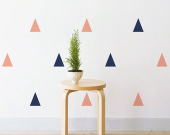 Pastel Triangles | Removable Wall Decal & Sticker for Home, Office, Nursery | LSB0217WHT